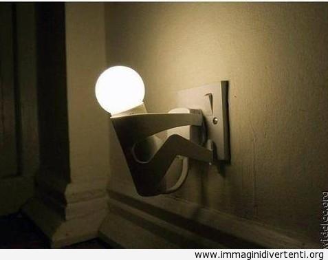 uomo lampadina : Lampadina creativa a forma di uomo immaginidivertenti.org