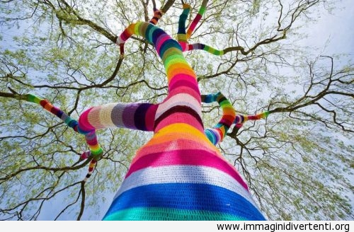Albero vestito di lana colorata immaginidivertenti.org