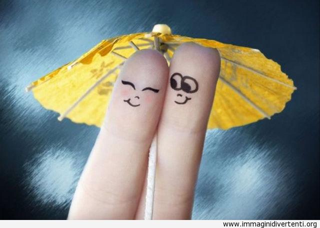 Arte con le dita, ombrello immaginidivertenti.org