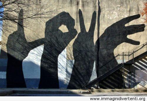 Due innamorati, quattro mani, LOVE immaginidivertenti.org