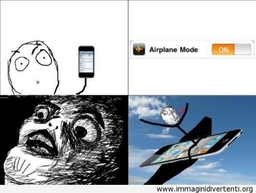 Il mio amico crede che la modalità aereo è così immaginidivertenti.org
