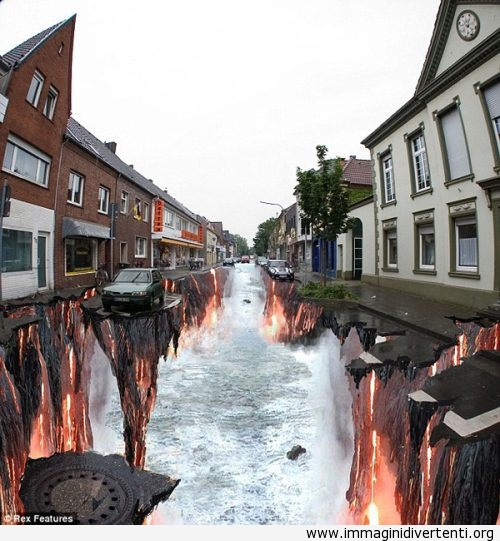 Sembra un'arte in 3d sulla strada immaginidivertenti.org