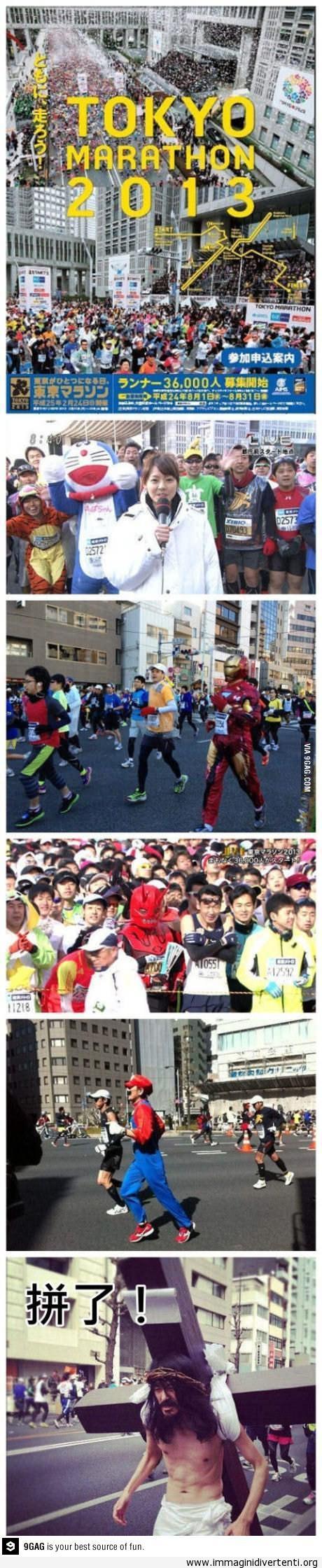 Una maratona normale in Giappone immaginidivertenti.org