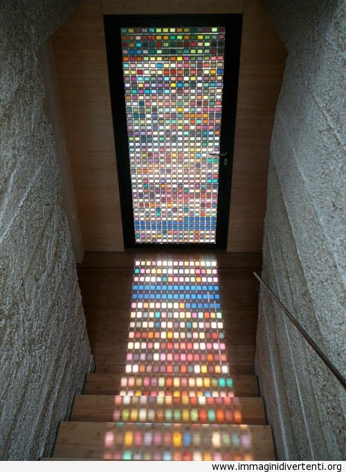 Creativa porta di vetro a vari colori immaginidivertenti.org