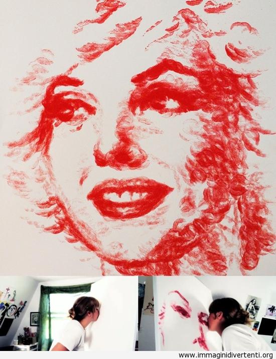 Dipingere con le labbra immaginidivertenti.org