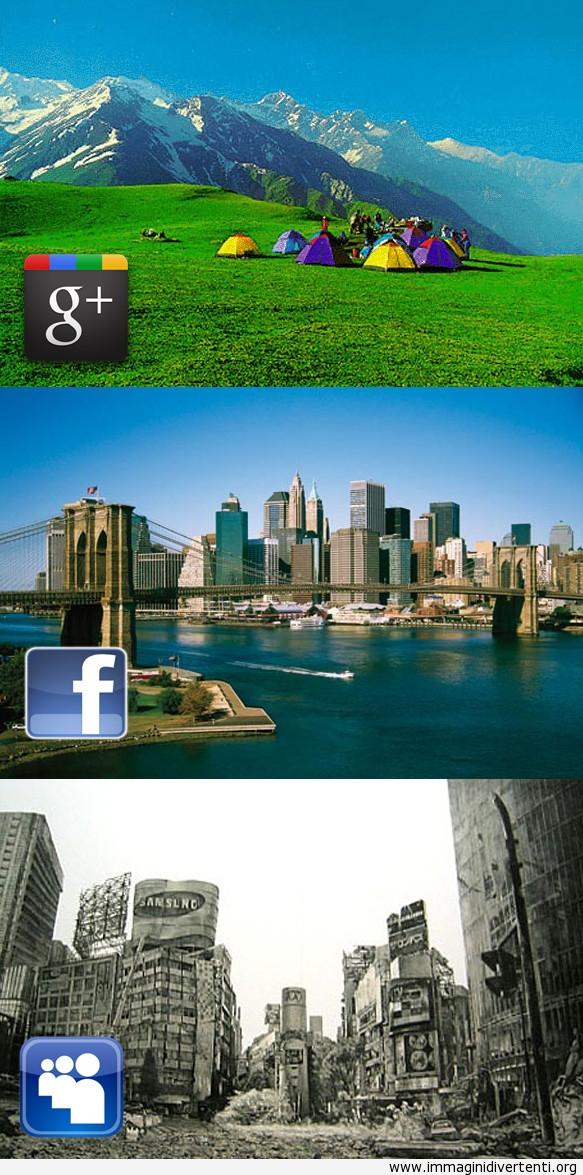 Google+ vs Facebook vs Myspace immaginidivertenti.org