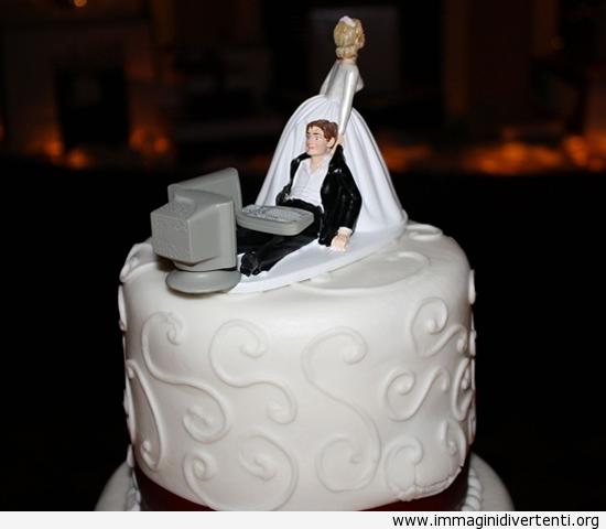 Ho sposato un computer geek. Questa è stata la nostra torta nuziale immaginidivertenti.org
