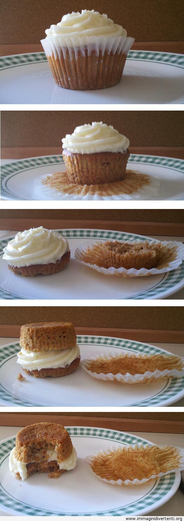 Metodo migliore per mangiare Cupcake immaginidivertenti.org
