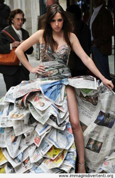 vestito di giornale immaginidivertenti.org