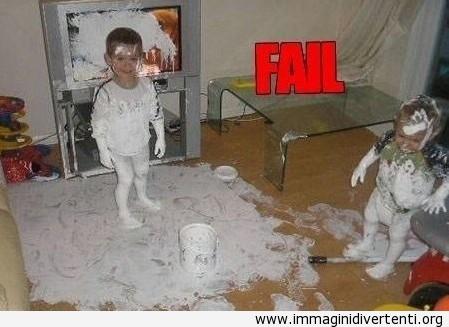 2 Bambini che incontrarono 1 Barattolo di vernice, ecco il risultato immaginidivertenti.org