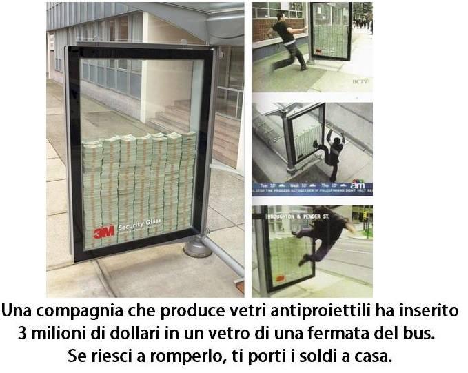 3 milioni di dollari in un vetro di una fermata del bus immaginidivertenti.org