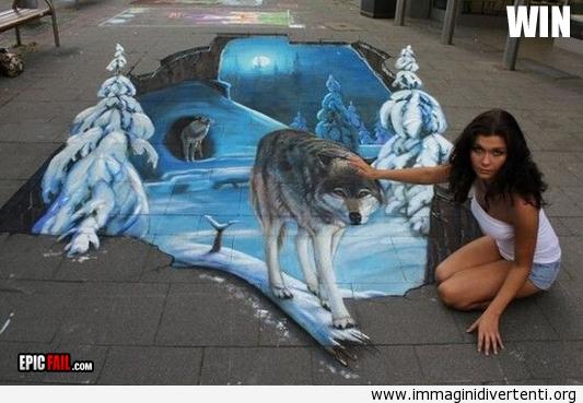 Arte di strada in 3D immaginidivertenti.org