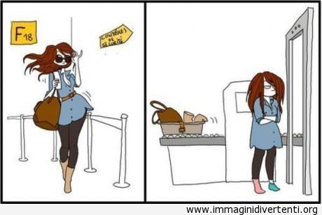 Controllo di sicurezza in aeroporto immaginidivertenti.org