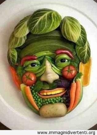 Faccia umana di verdure immaginidivertenti.org