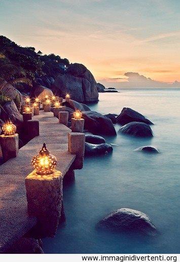 Mare e lanterne, Thailandia immaginidivertenti.org