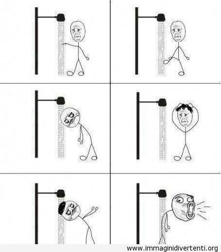 Prendendo doccia in acqua fredda immaginidivertenti.org