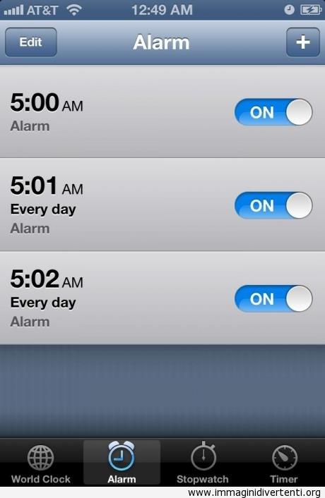 Svegliarsi presto la mattina... penso che non sono l'unico