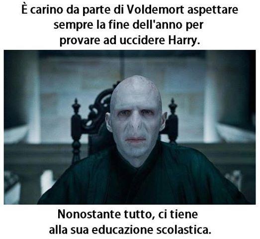 E' carino da parte di Voldemort aspettare sempre la fine dell'anno immaginidivertenti.org