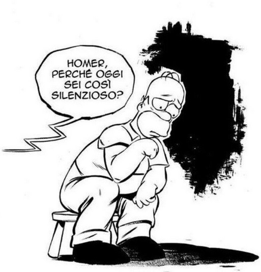 Homer, perche oggi sei così silenzioso? immaginidivertenti.org