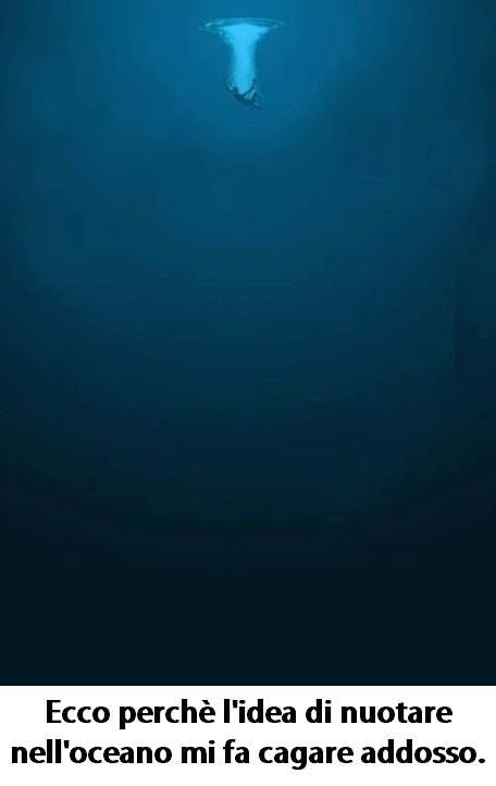 L'idea di nuotare nell'oceano immaginidivertenti.org