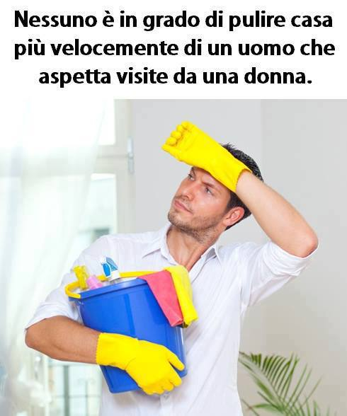 Nessuno è in grado di pulire casa più velocemente di un uomo immaginidivertenti.org